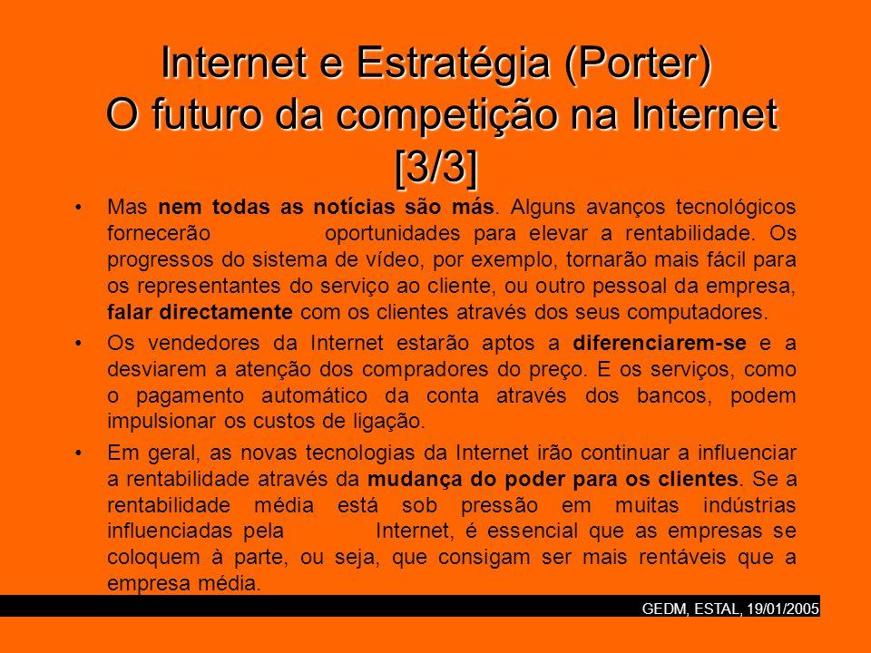 Internet e Estratégia (Porter) O futuro da competição na Internet [3/3]